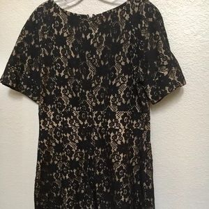 Allen B lace holiday dress